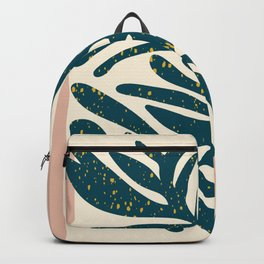 Floral Art Print - Mid century modern, mid-century wall art, print, geometric wall art, abstract wal Backpack
