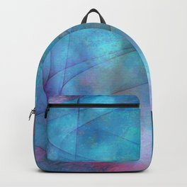 Blue tornado with fairy lights Backpack