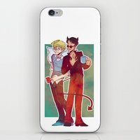 good omens iPhone & iPod Skins featuring Good Omens by Brizy Eckert