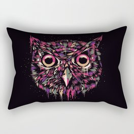 Colored Owl Rectangular Pillow