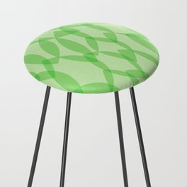 Overlapping Leaves - Light Green Counter Stool