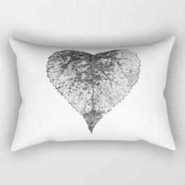 heart b&w Rectangular Pillow