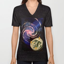 Space Face: Spiral Unisex V-Neck