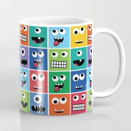 Cute Kids Monster Face Pattern Coffee Mug