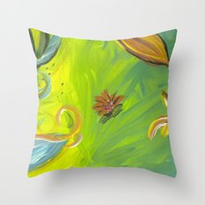 Tropical Flowers Throw Pillow
