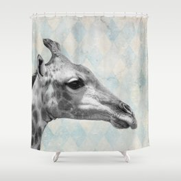 Retro Giraffe Shower Curtain