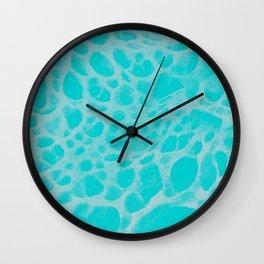 Pattern SPOTS Blue Wall Clock