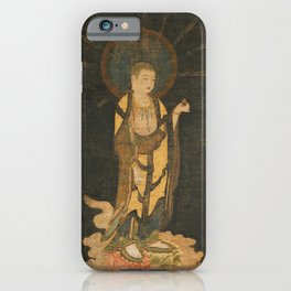 Welcoming Descent of Jizo 13th Century Japanese Scroll iPhone Case