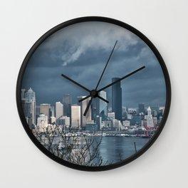 Seattle's shades of gray Wall Clock