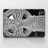 celtic iPad Cases featuring Celtic Cross by David Pyatt