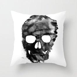 White skull Throw Pillow