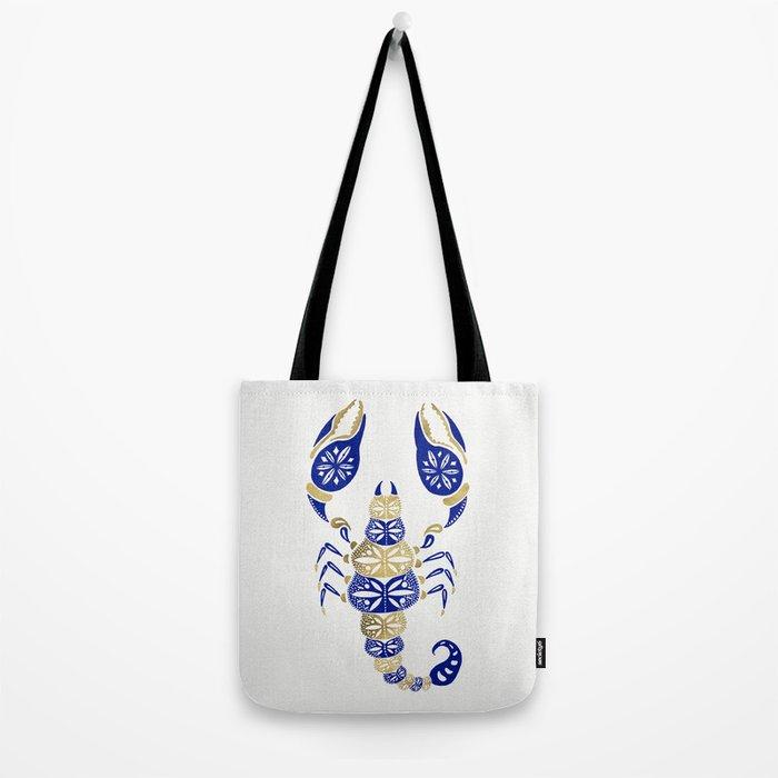Scorpion – Navy & Gold Tote Bag
