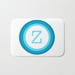 Blue Letter Z Bath Mat