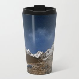 Himalaya mountain with star in night time,near Gorak Shep village - Nepal, Himalayas Travel Mug