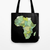 south africa Tote Bags featuring Africa by Emir Simsek