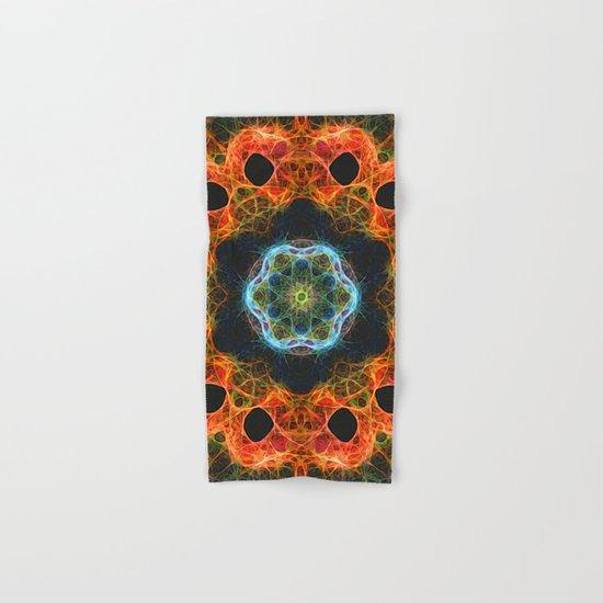 Fiery barnacles kaleidoscope 2 Hand & Bath Towel