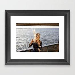 The Ferry, Windy Framed Art Print