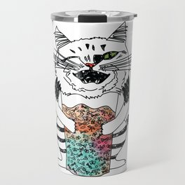 Emotional Cat. Playful. Travel Mug