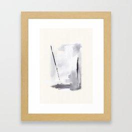 Two Strikes Framed Art Print