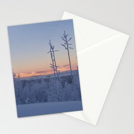 sunrise on mountain in Sweden Stationery Cards
