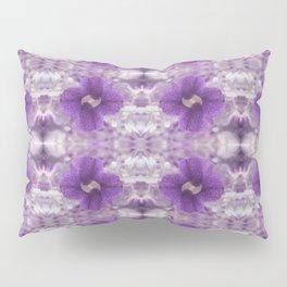 Violet Pansies Pattern Pillow Sham