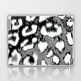 Black and White Leopard Spots Laptop & iPad Skin