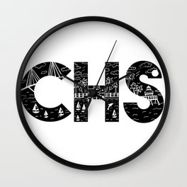 Charleson Landscape Doodle Wall Clock