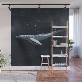 Space Whale Wall Mural