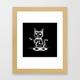 black cat kuroneko ecopop Framed Art Print