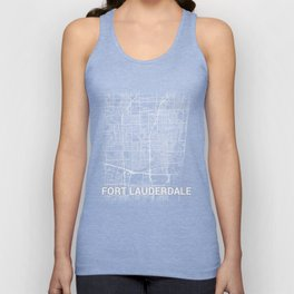 Fort Lauderdale Florida City Map Tee Unisex Tank Top