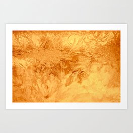 Abstraction Ice Background Pattern Gold Art Print