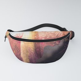 As a sun warms a forest Fanny Pack