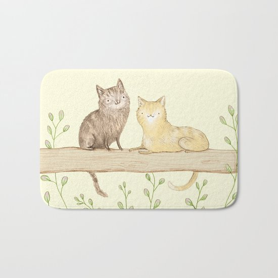 Cats on the Fence Bath Mat