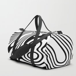Black and White Marble Pattern Duffle Bag