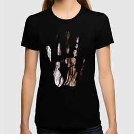 Ancient olive tree wood close-up T-shirt
