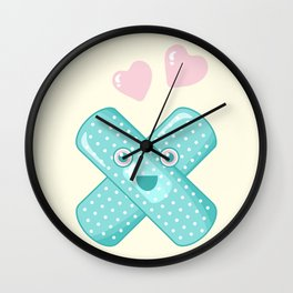 Pastel Happy Plaster Wall Clock