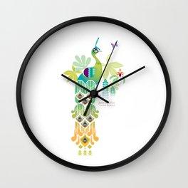 Java Green Peacock [Pavo Muticus] Wall Clock