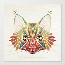 savage cat Canvas Print