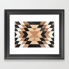 Marble Wood Kilim Framed Art Print