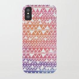 Sunset tribal iPhone Case