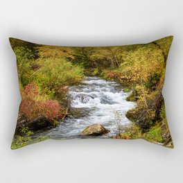 Spearfish Canyon - Creek Surrounded By Fall Color in Black Hills South Dakota Rectangular Pillow