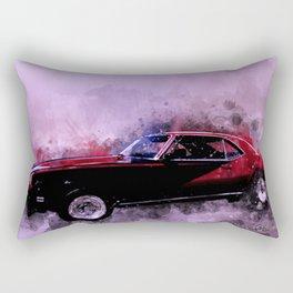 69 Chevy Camaro Watercolor Rectangular Pillow