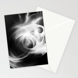 abstract fractals 1x1 reacbw Stationery Cards