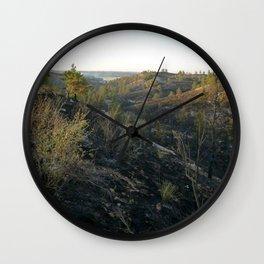 Burnt Wall Clock