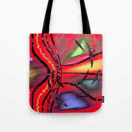 Abstract Rubrum Tote Bag