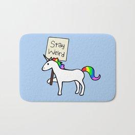 Stay Weird, Unicorn Bath Mat
