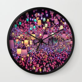 Japanese Lanterns Wall Clock