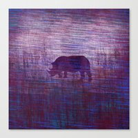 rhino Canvas Prints featuring Rhino by Inmyfantasia