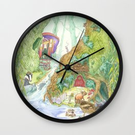The Wind in the Willows Wall Clock