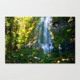 Proxy Falls 4 - Waterfall In Oregon Canvas Print